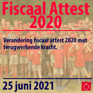Fiscaal attest 2020